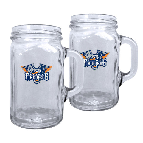 Flint Firebirds - 16oz. White Travel Mug Huntsville