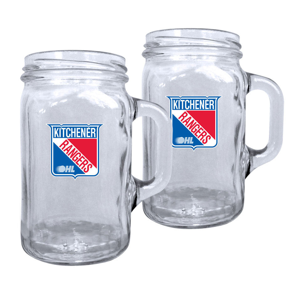 Kitchener Rangers - 2pk. 16oz Mason Mug Set