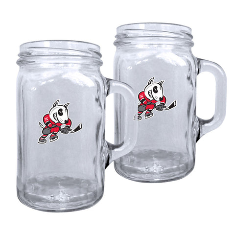Niagara Ice Dogs - 2pk. 16oz Mason Mug Set