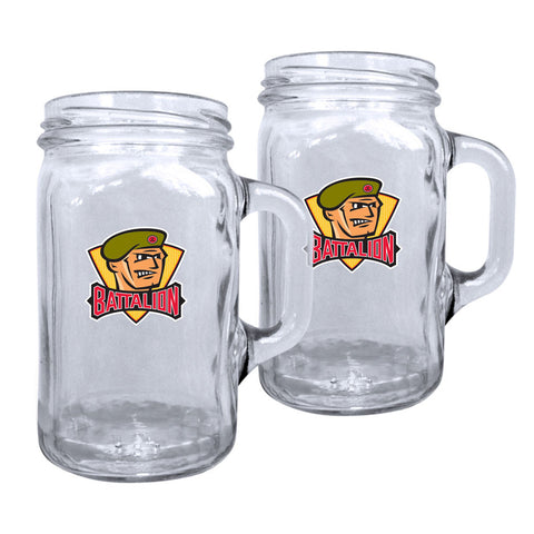 North Bay Battalion - 2pk. 16oz Mason Mug Set