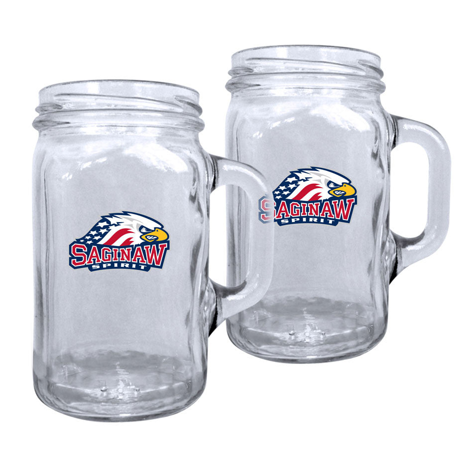 Saginaw Spirit - 2pk. 16oz Mason Mug Set