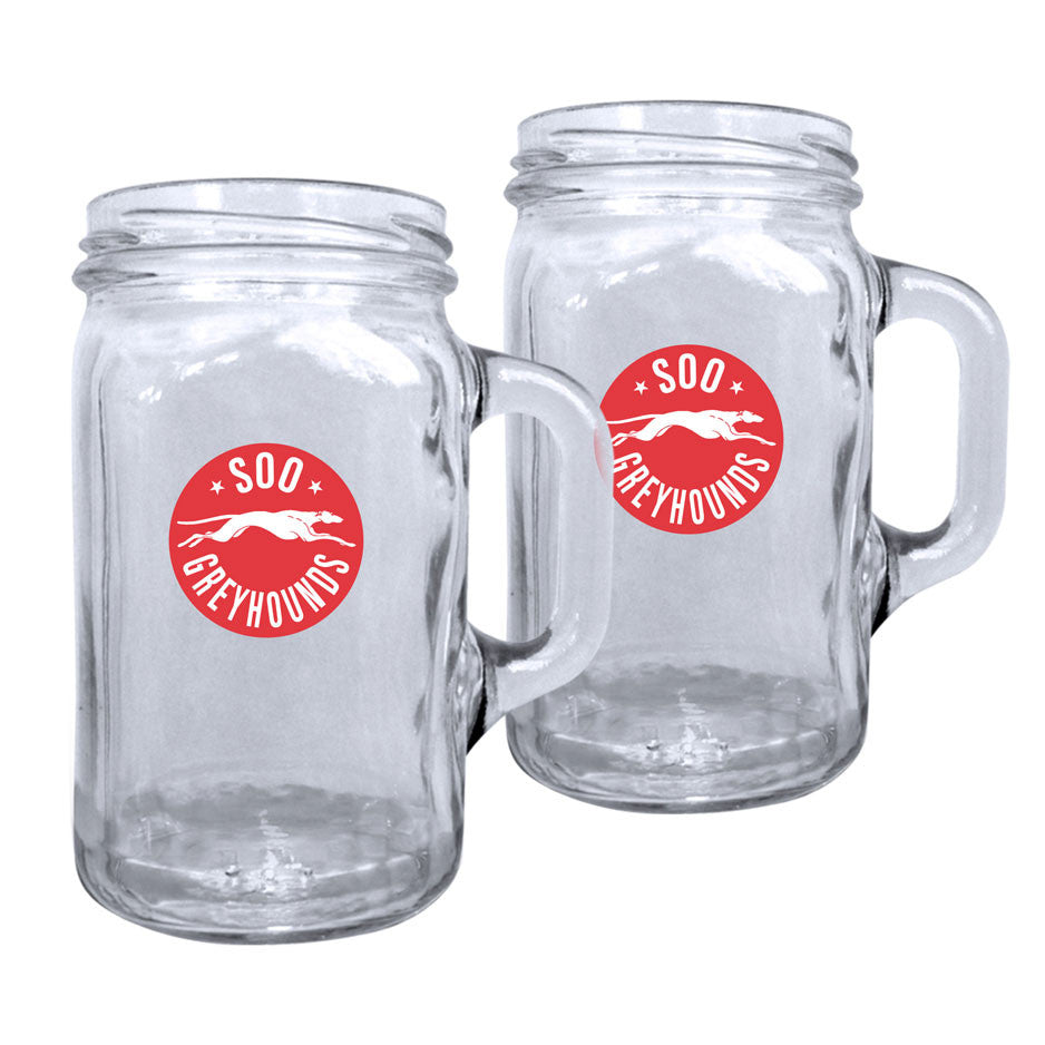 SSM Greyhounds - 2pk. 16oz Mason Mug Set