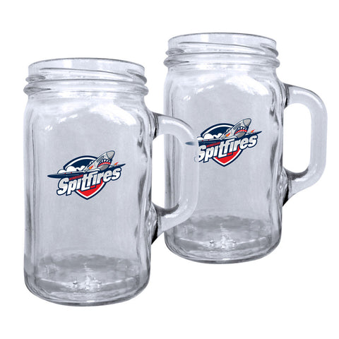 Windsor Spitfires - 2pk. 16oz Mason Mug Set