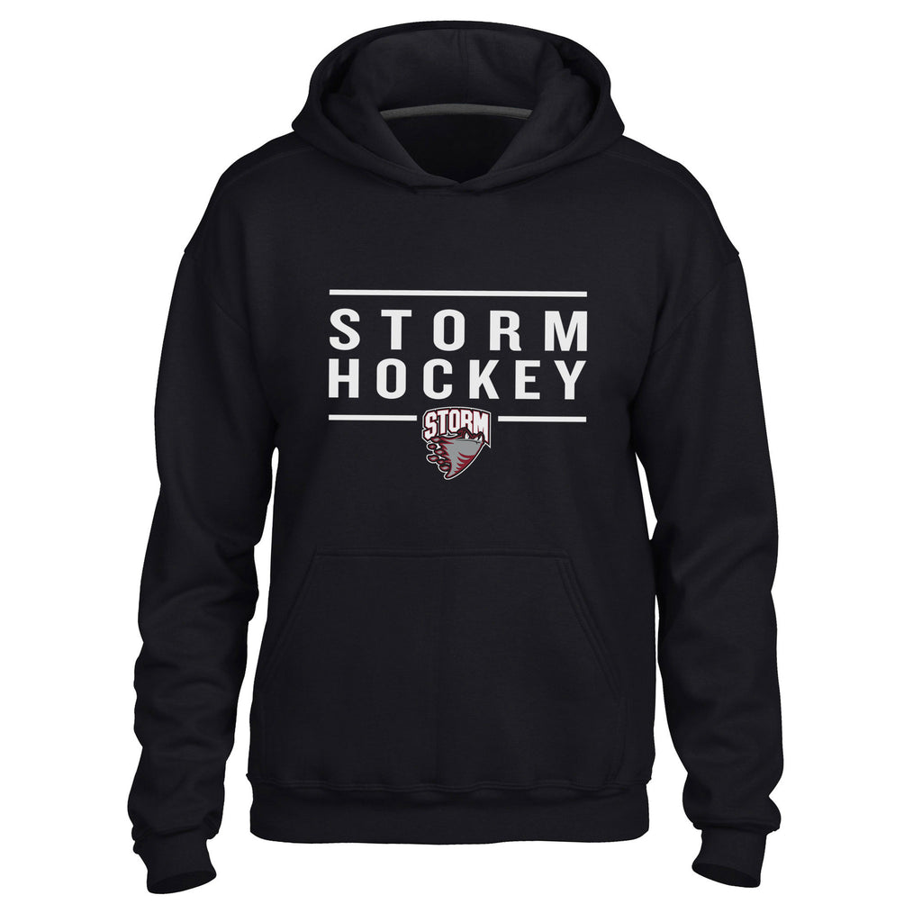Guelph Storm Adult Black Hoody - Design 24