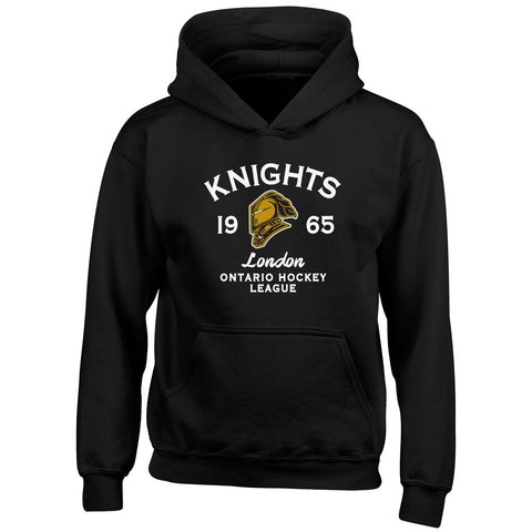 Youth London Knights Black Hoody - Design 8