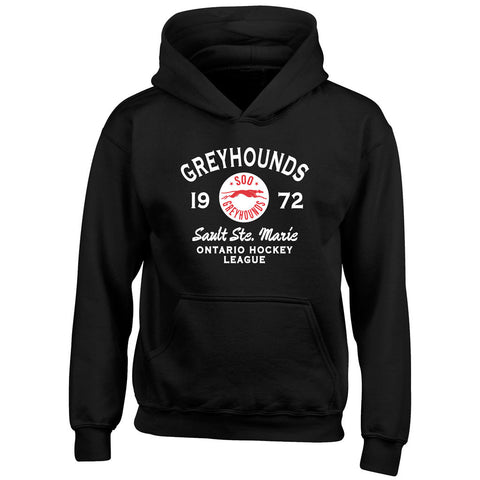 Youth SSM Greyhounds Black Hoody - Design 8