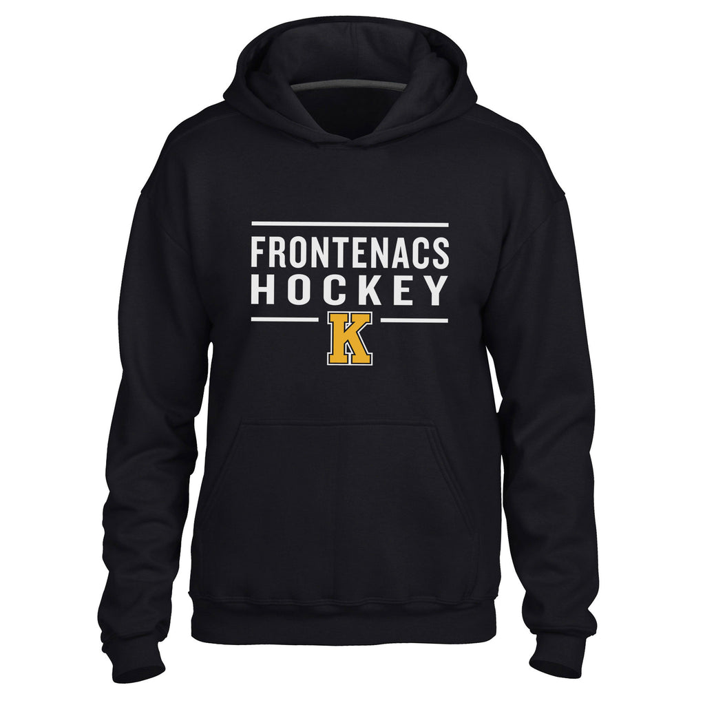 Kingston Frontenacs Adult Black Hoody  - Design 24