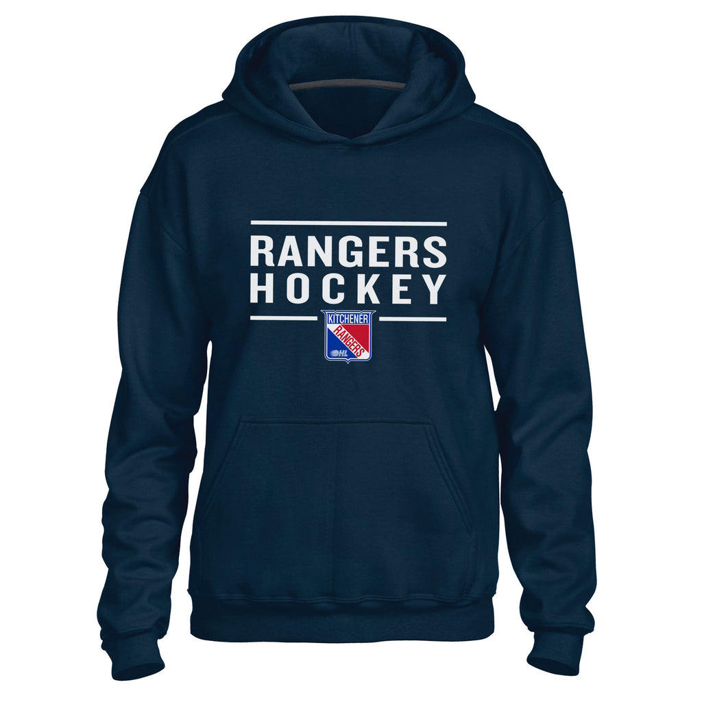 Kitchener Rangers Adult Navy Hoody - Design 24