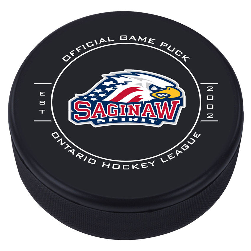 Saginaw Spirit Puck - Version 1