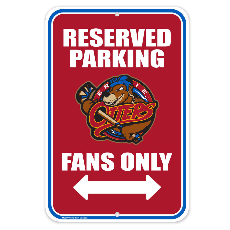 Erie Otters Parking Sign