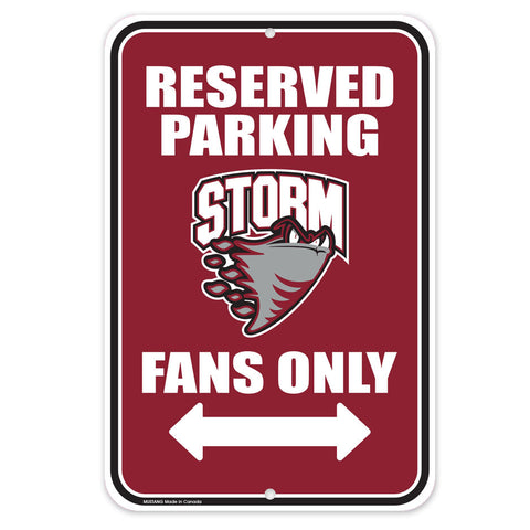 Guelph Storm - 10x15 Parking Sign