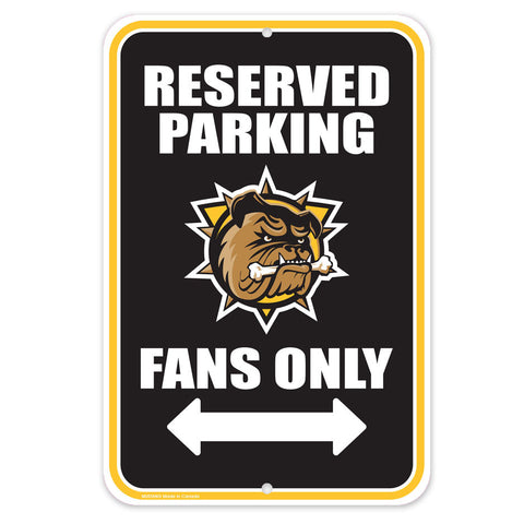Hamilton Bulldogs - 10x15 Parking Sign
