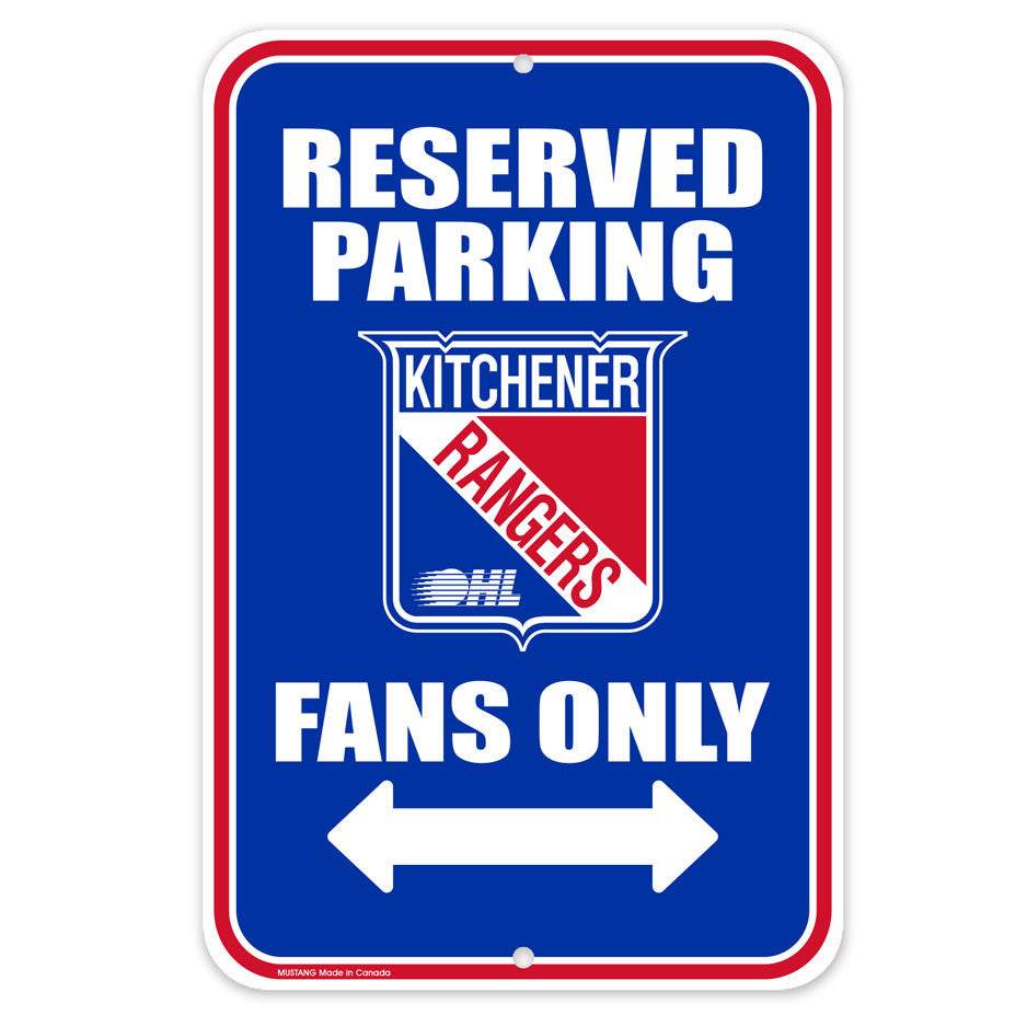 Kitchener Rangers Parking Sign