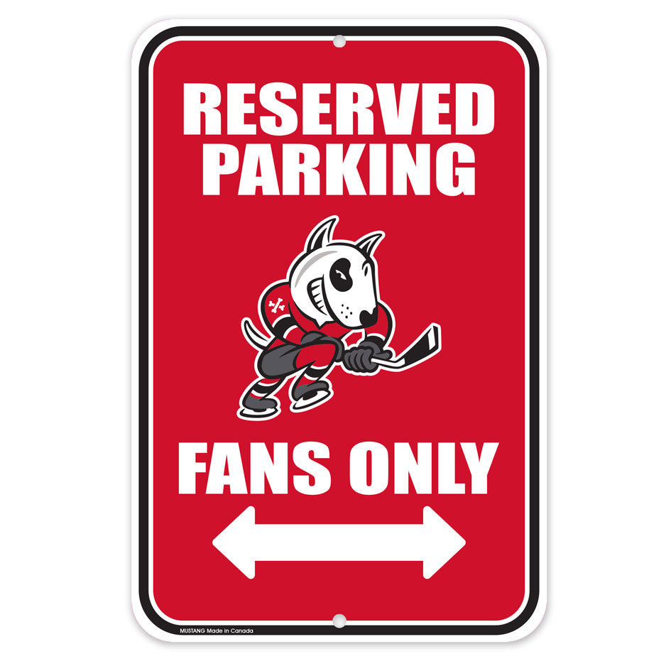 Niagara Ice Dogs Parking Sign