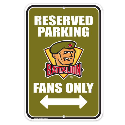 North Bay Battalion - 10x15 Parking Sign