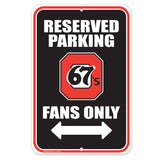 Ottawa 67's Parking Sign