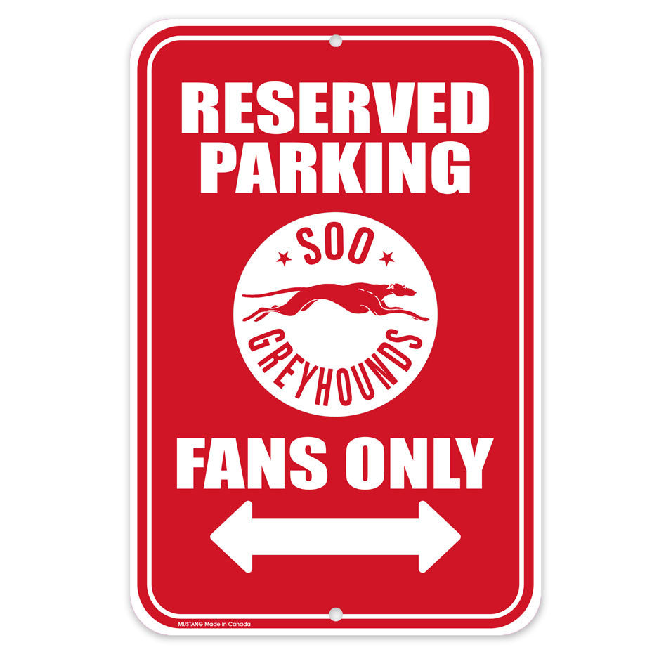 SSM Greyhounds Parking Sign