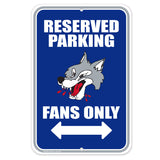 Sudbury Wolves Parking Sign
