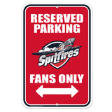 Windsor Spitfires Parking Sign