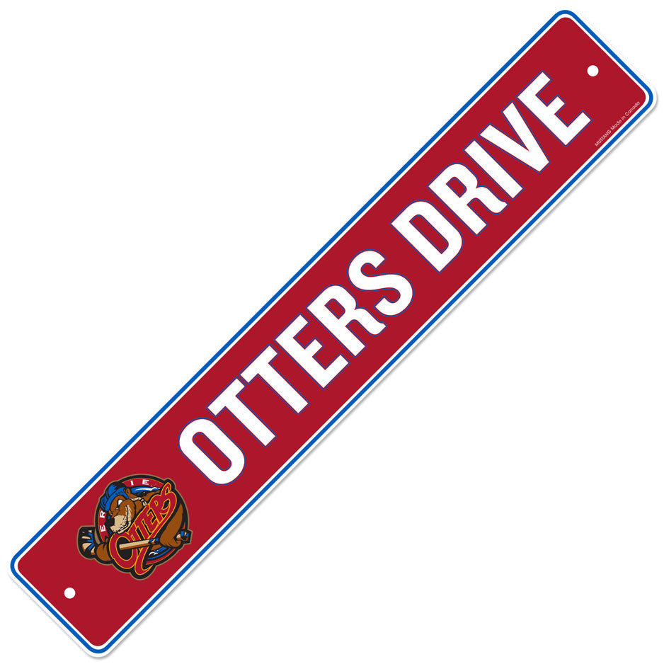 Erie Otters 4x23 Street Sign