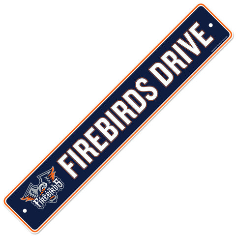 Flint Firebirds 4x23 Street Sign