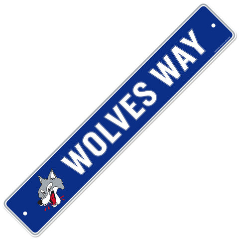 Sudbury Wolves 4x23 Street Sign
