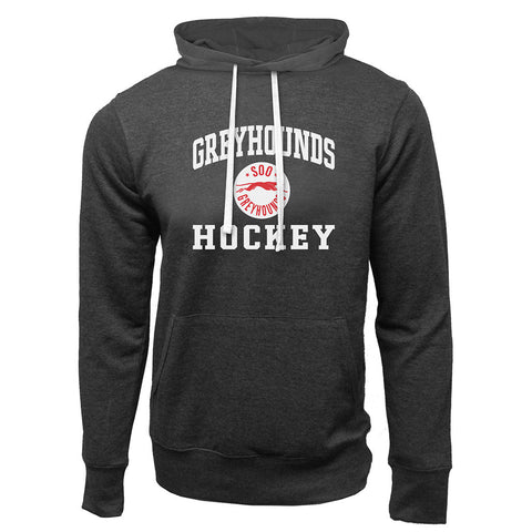 SSM Greyhounds Adult Charcoal Heather French Terry Fashion Hoody - Design 27