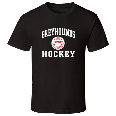 SSM Greyhounds Adult Black Short Sleeve T Shirt - Design 27