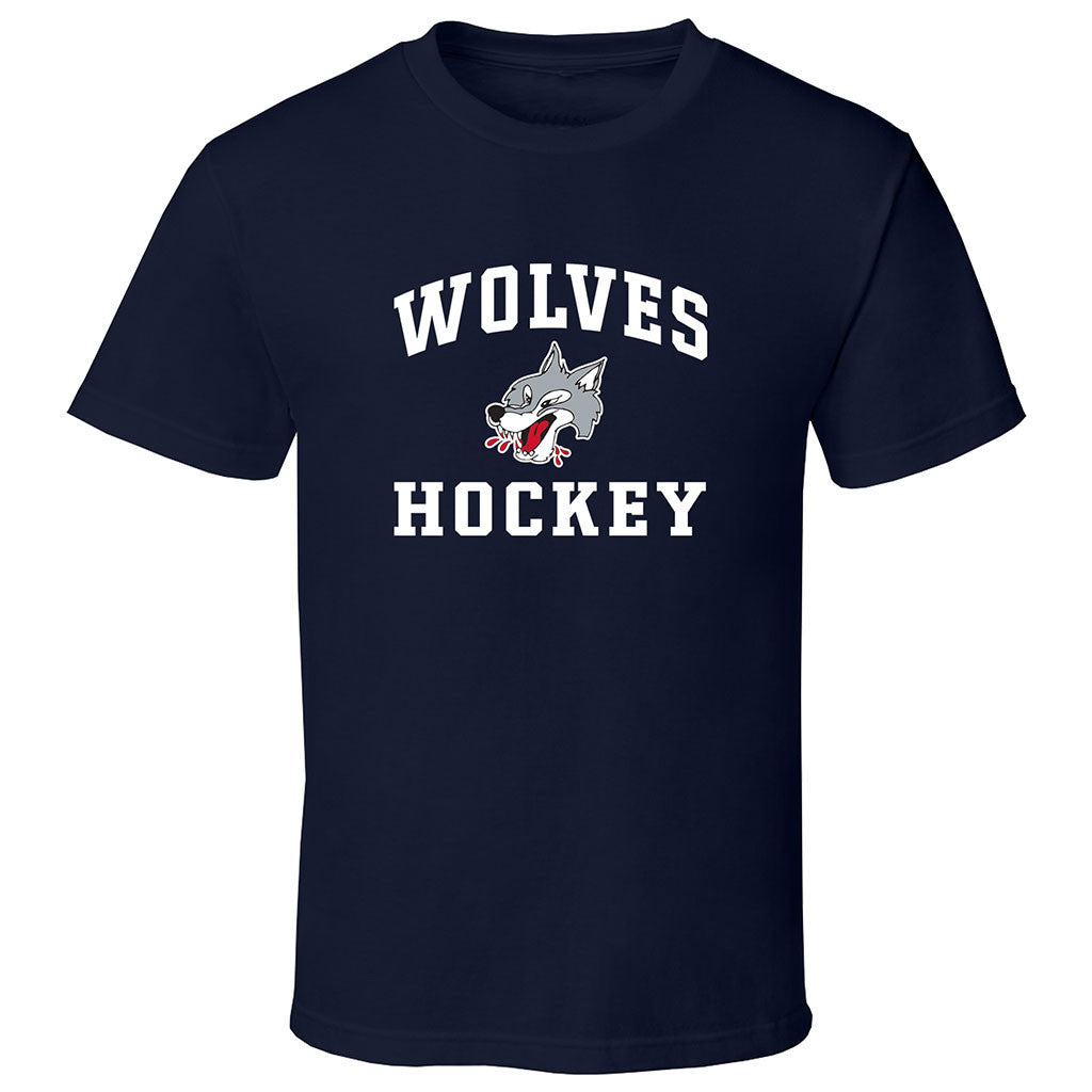Sudbury Wolves Adult Navy Short Sleeve T Shirt - Design 27