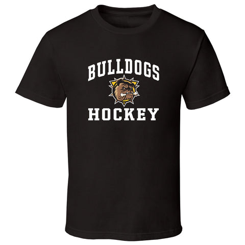 Hamilton Bulldogs Adult Black Short Sleeve T Shirt - Design 27