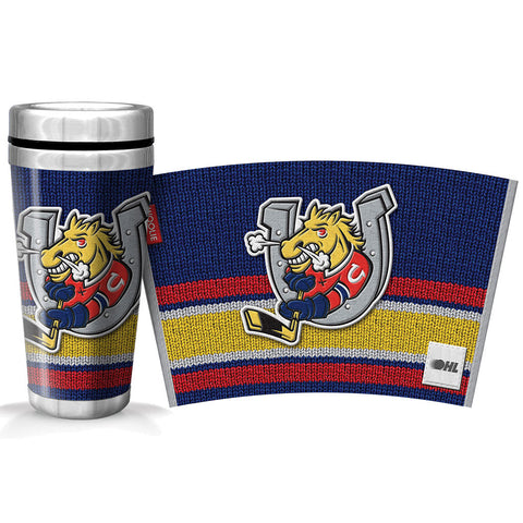 Barrie Colts 16oz Woolie Travel Mug Full Wrap
