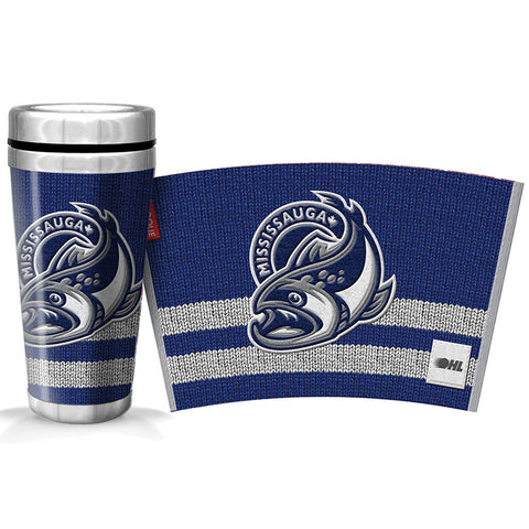 Mississauga Steelheads 16oz Woolie Travel Mug Full Wrap