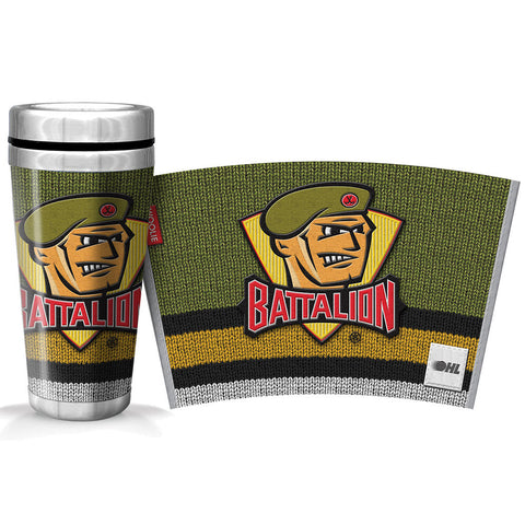 North Bay Battalion 16oz Woolie Travel Mug Full Wrap