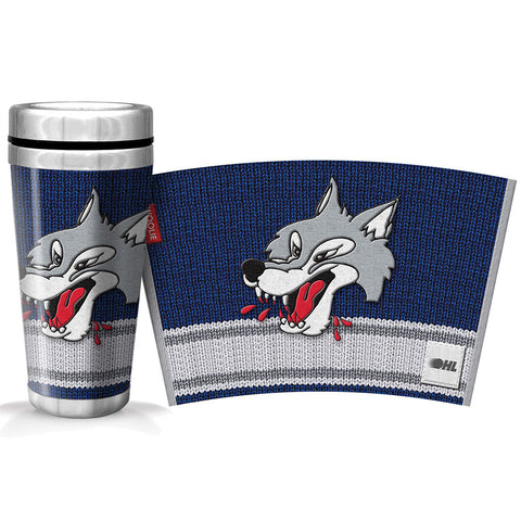 Sudbury Wolves 16oz Woolie Travel Mug Full Wrap
