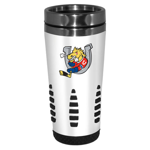 Barrie Colts - 16oz. White Travel Mug Huntsville