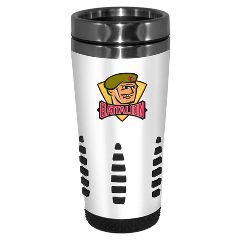 North Bay Battalion - 16oz. White Travel Mug Huntsville