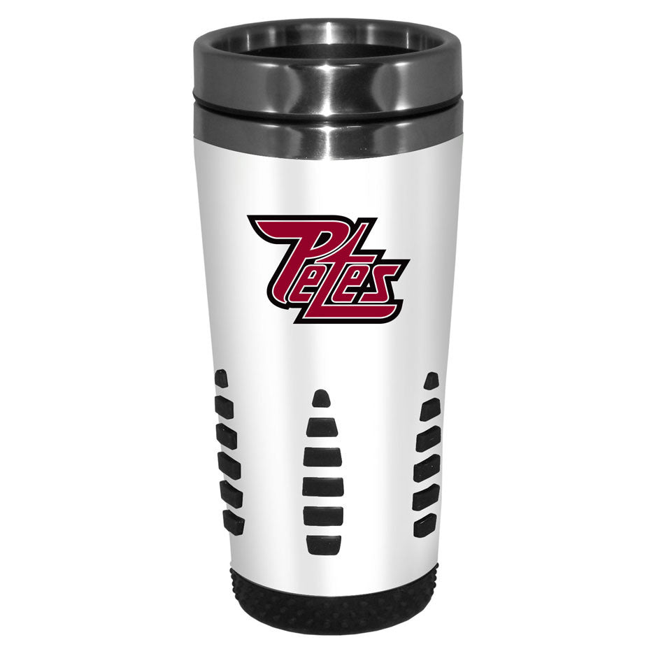 Peterborough Petes - 16oz. White Travel Mug Huntsville