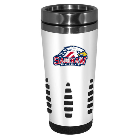 Saginaw Spirit - 16oz. White Travel Mug Huntsville