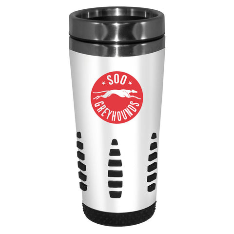 SSM Greyhounds - 16oz. White Travel Mug Huntsville