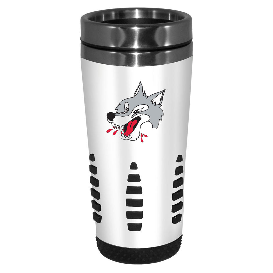 Sudbury Wolves - 16oz. White Travel Mug Huntsville