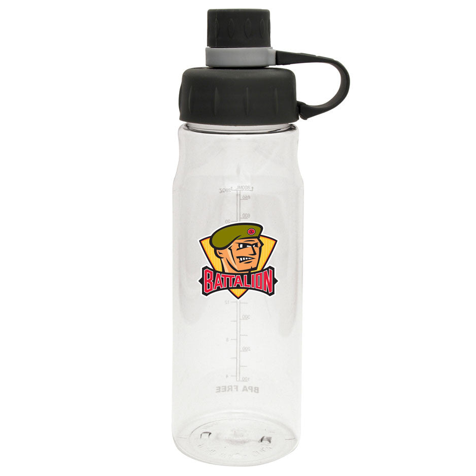 North Bay Battalion - 28oz Clear Water Bottle Oasis