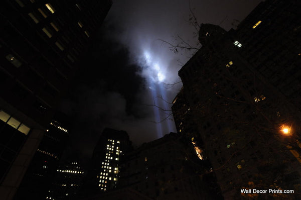 Bright Lights Dark City - NYC Tribute in Light 2010