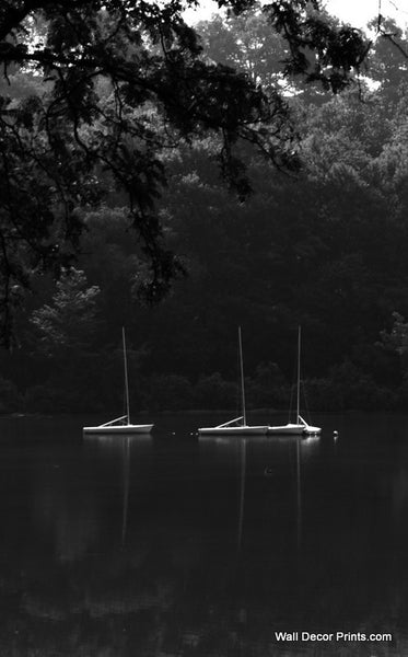Black and White Boats Wall Art 8x12 Delivered Free