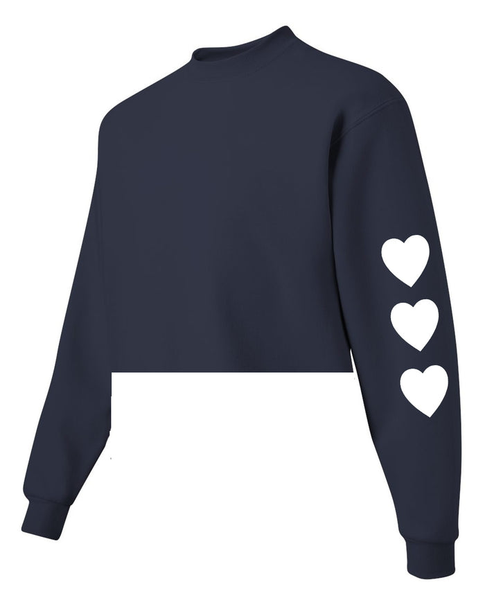 Wild at Heart Raw Hem Cropped Sweatshirt