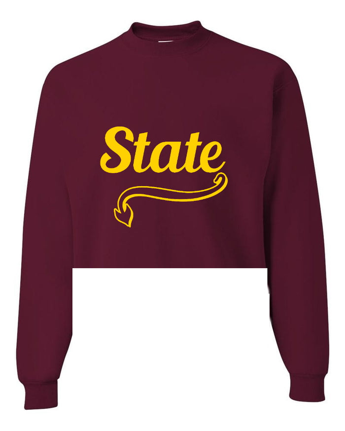 State Raw Hem Cropped Sweatshirt