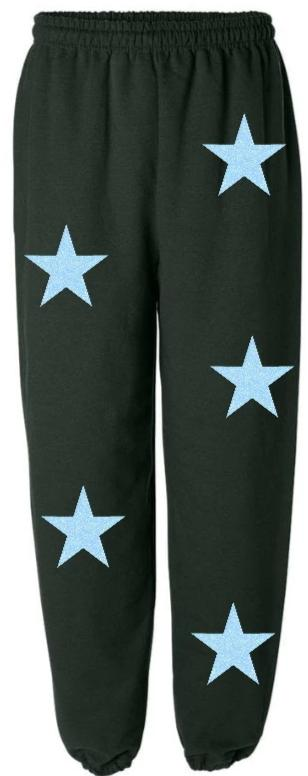Glitter Star Power Green Sweatpants