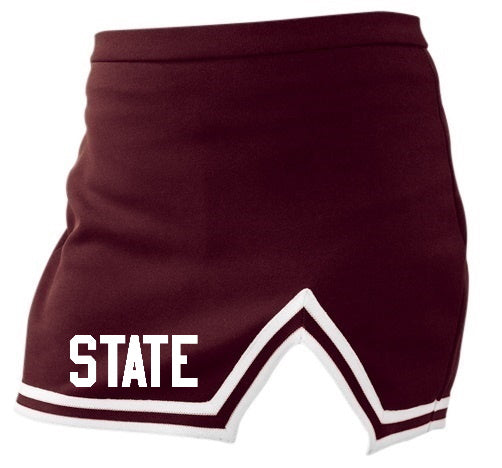 State Maroon A-Line Notched Cheer Skirt