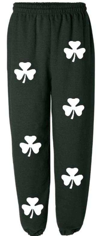 White Clovers Green Sweatpants