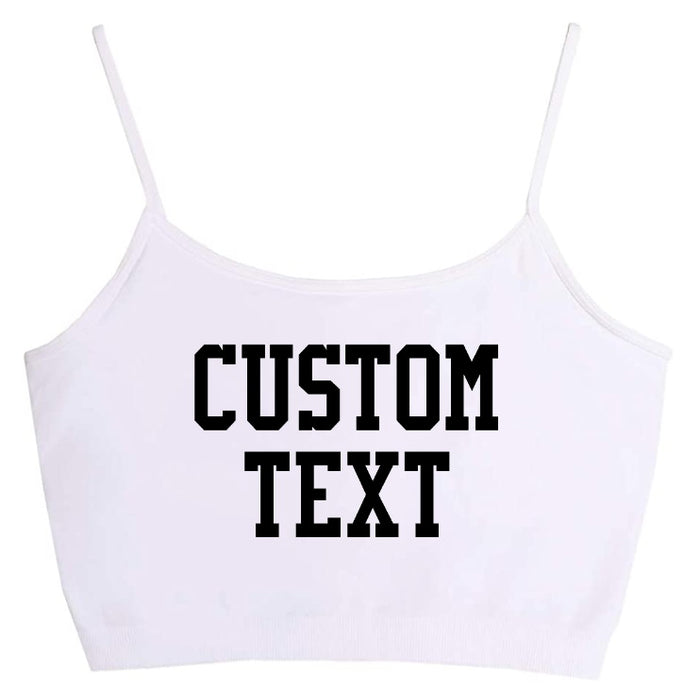 Custom Single Color White Seamless Crop Top