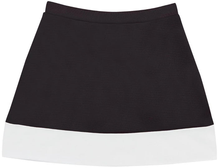 Collegiate Black & White A-Line Cheer Skirt